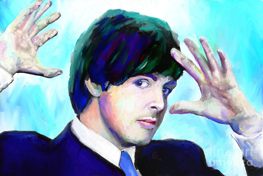 Paul Mccartney Mixed Media - Paul Mccartney Of The Beatles by G Cannon