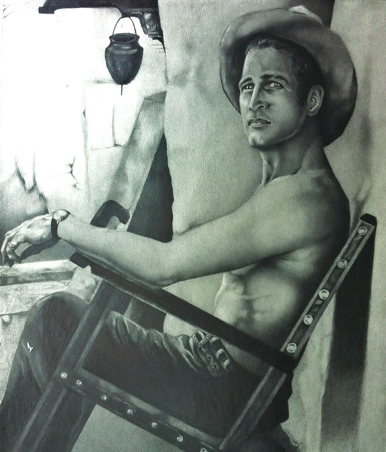 Drawings Drawing - Paul Newman by Carl Baker
