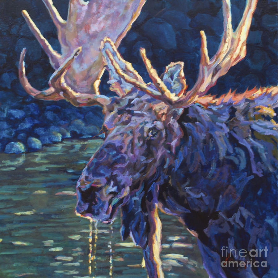 Moose Painting - Paul by Patricia A Griffin