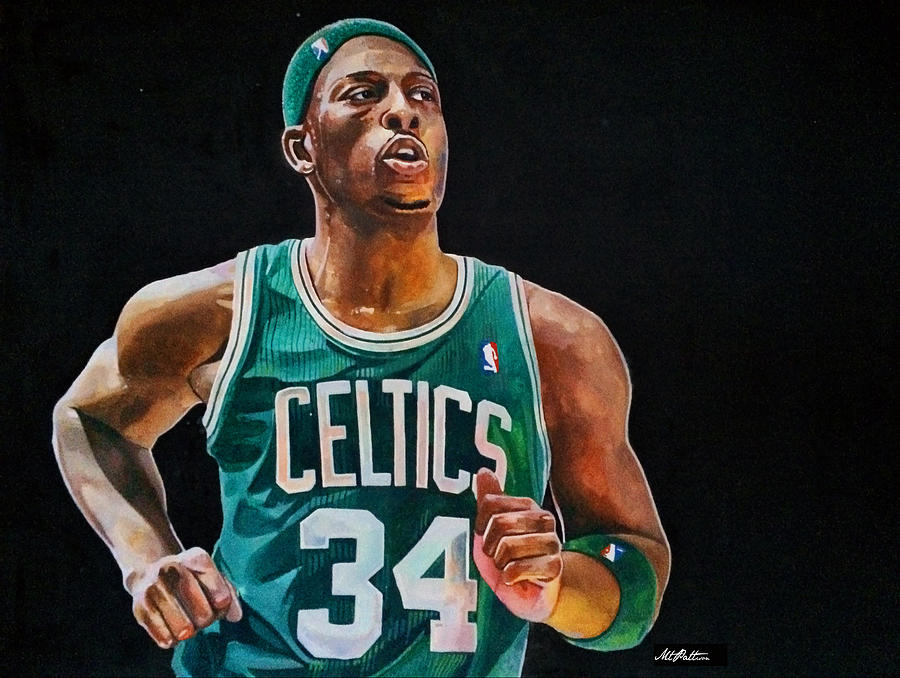 Paul Pierce Painting - Paul Pierce - The Truth by Michael  Pattison