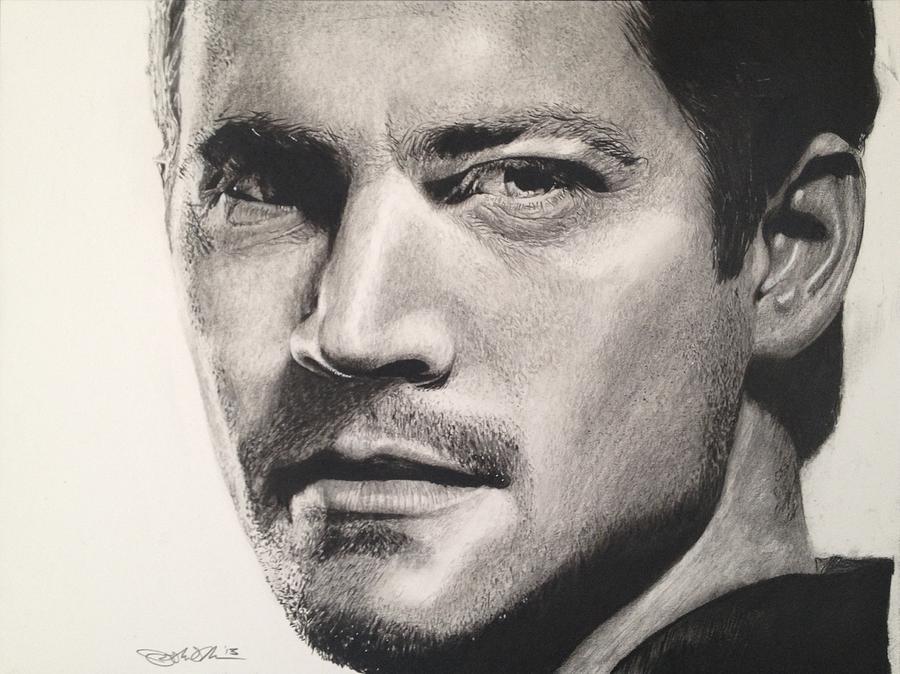 Paul Walker Drawing By Joshua Navarra
