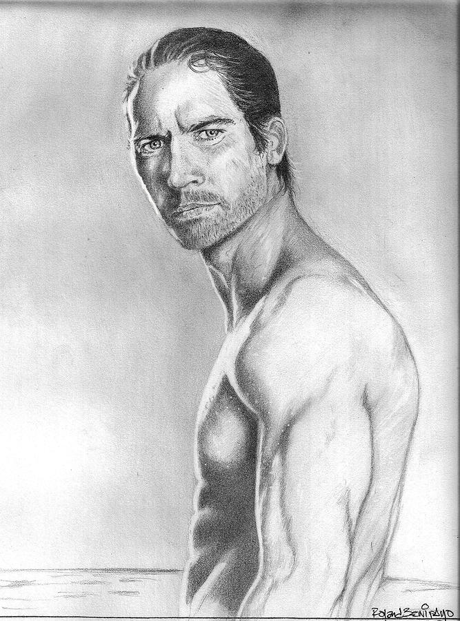 Actor Drawing - Paul Walker by Roland Benipayo