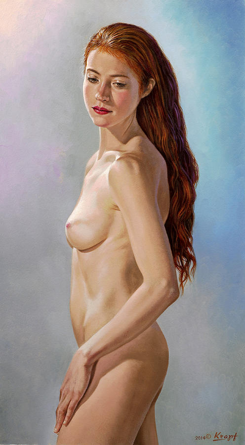 Figure Painting - Pauls Muse by Paul Krapf