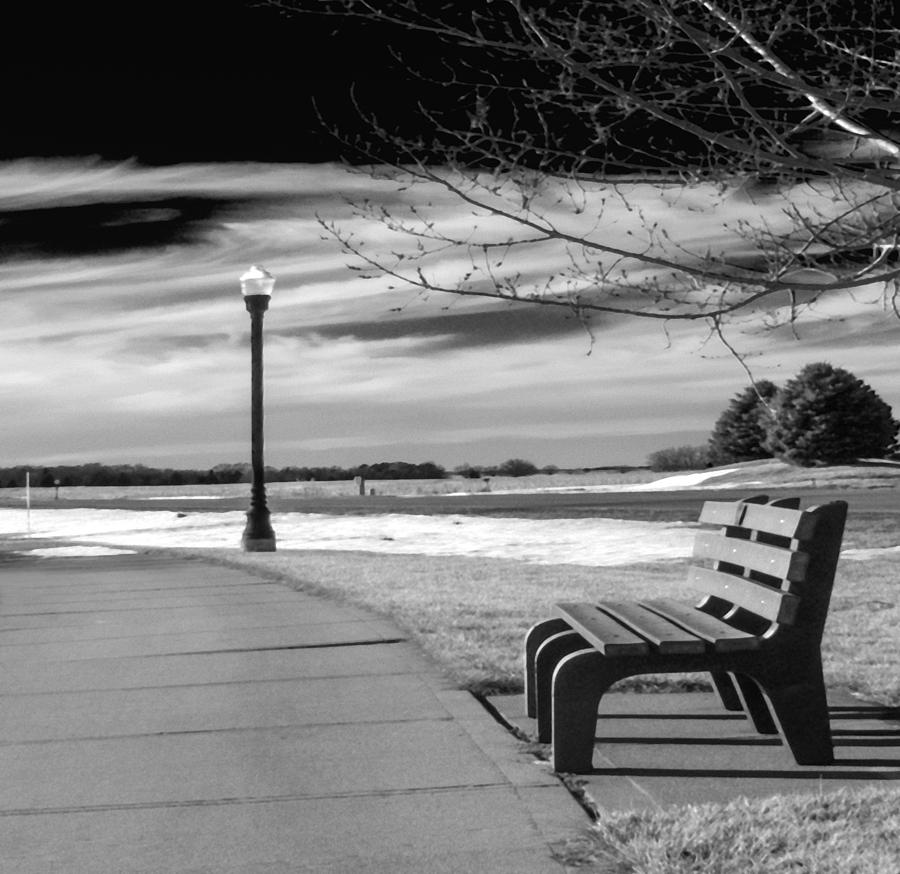 Bench Photograph - Pause by Don Spenner