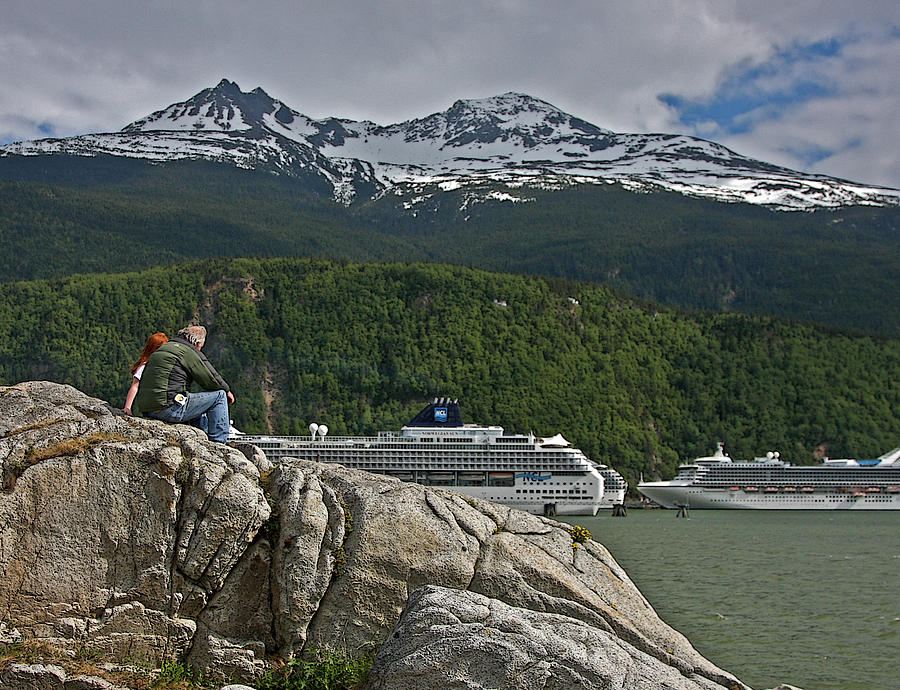 Cruise Photograph - Pause In Wonder At Cruise Ships In Alaska by John Haldane