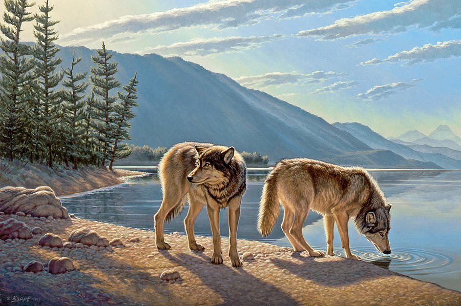 Wildlife Painting - Pause On The Way by Paul Krapf