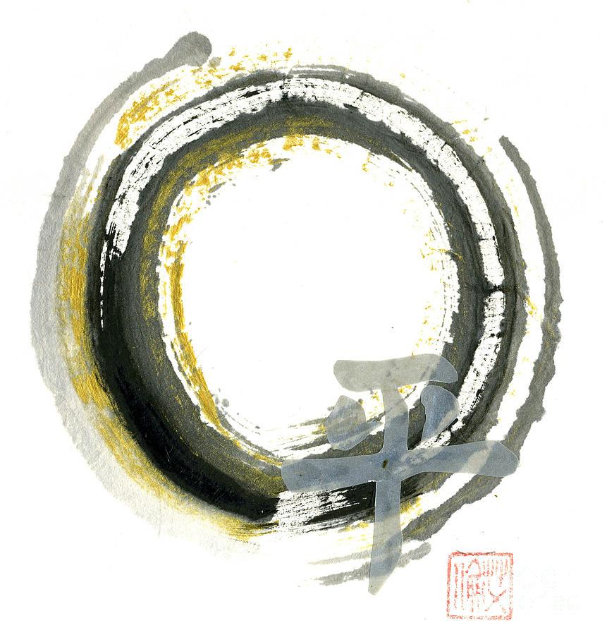 Zenga Painting - Pax - Zen Enso by Ellen Miffitt