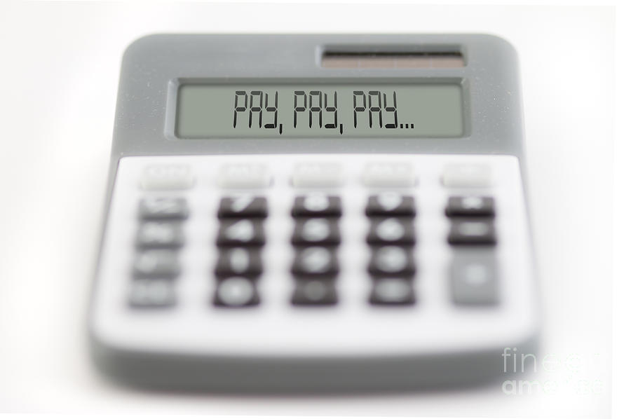 Acceptance Photograph - Pay Pay Pay by Michal Boubin