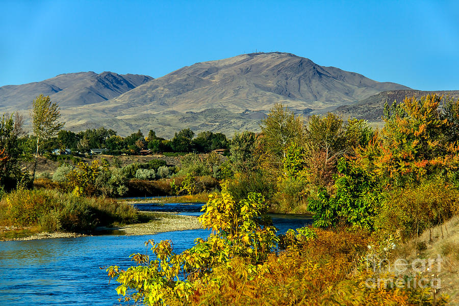 Emmett Photograph - Payette River And Squaw Butte by Robert Bales