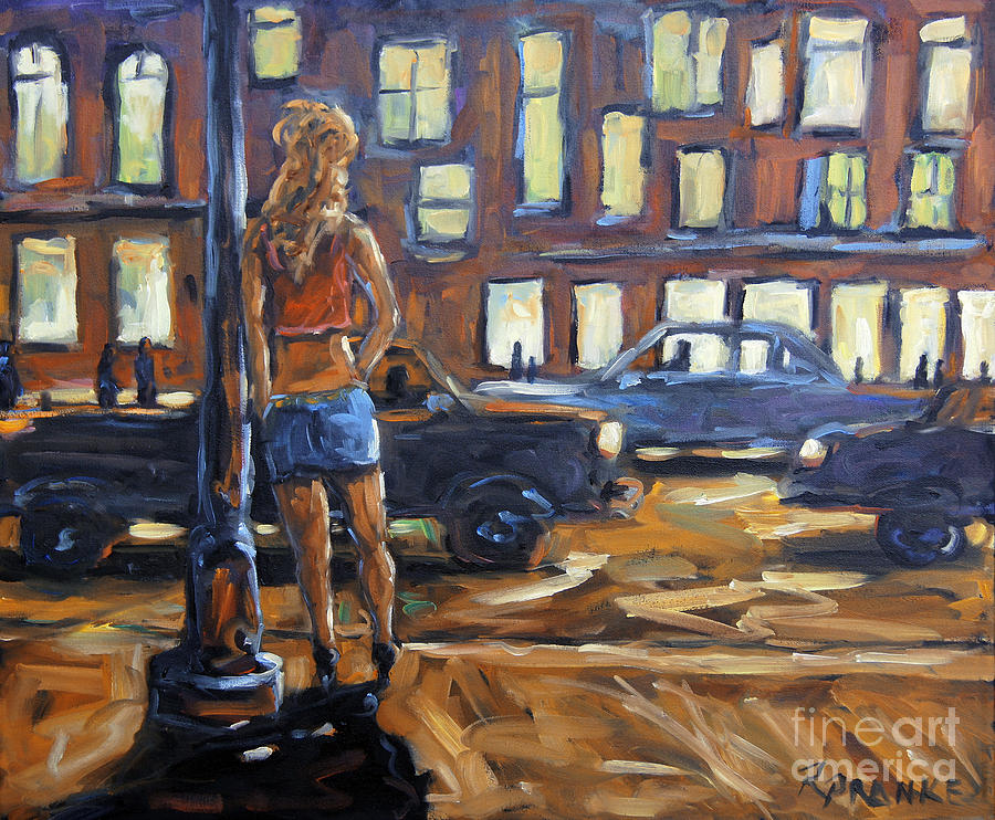Urban Scene Painting - Payin the Rent by Prankearts by Richard T Pranke