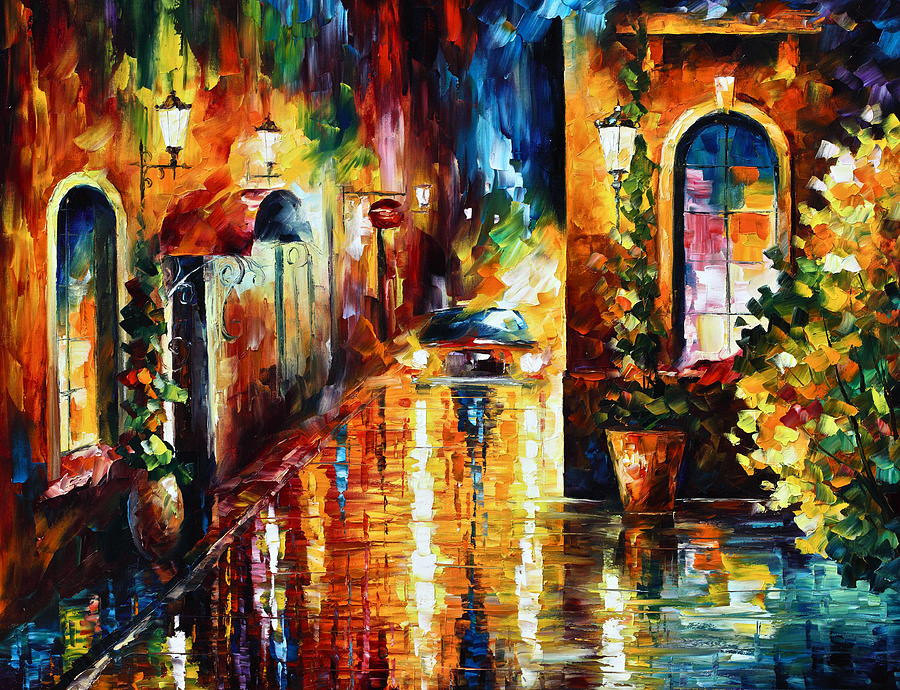City Painting - Paying A Visit New by Leonid Afremov