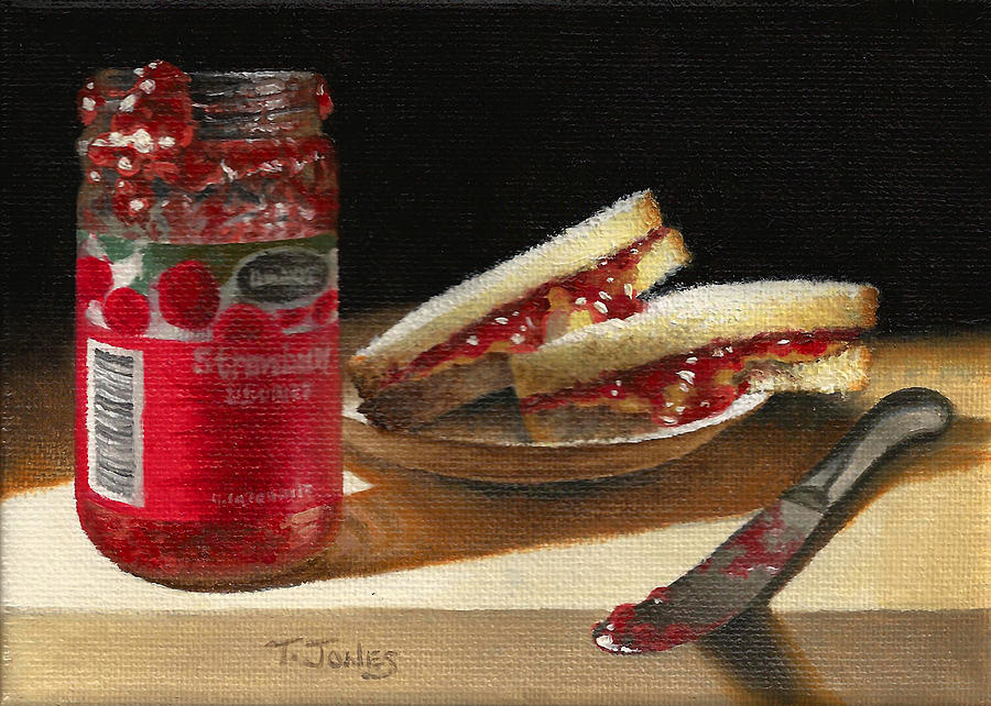 Food Painting - Pb And J 2 by Timothy Jones