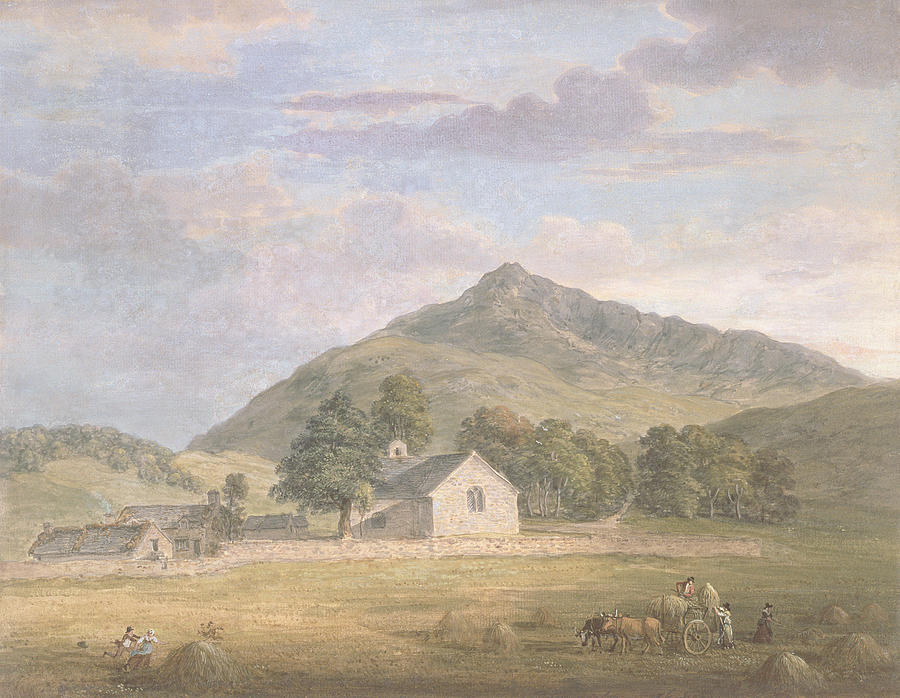 Welsh Painting - Haymaking At Dolwyddelan by Paul Sandby