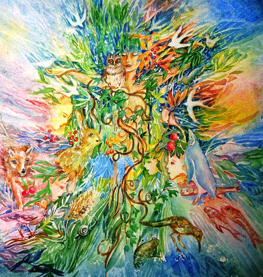 Peace And Harmony Painting - Peacable Kingdom No.2 by Trudi Doyle