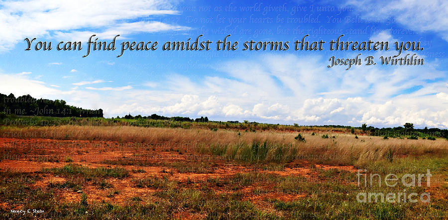 Peace Amidst The Storms Photograph