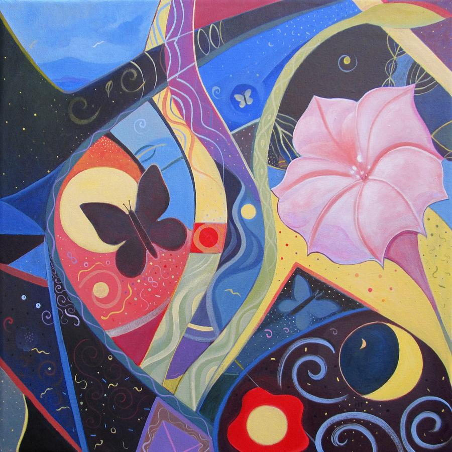 Peace Painting - Peace And Flow by Helena Tiainen