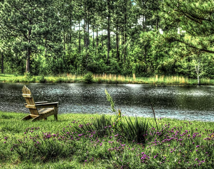 Pond Photograph - Peace At The Pond by EG Kight