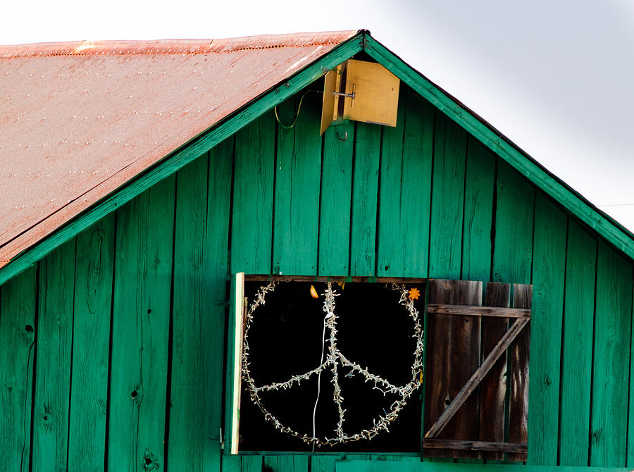 Bliss Photograph - Peace Barn by Bill Gallagher