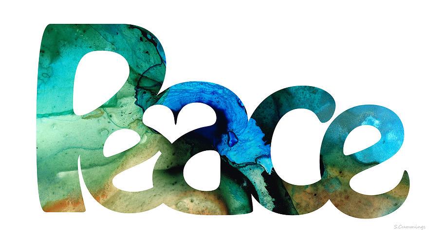 Peace Painting - Peace Full 13 by Sharon Cummings