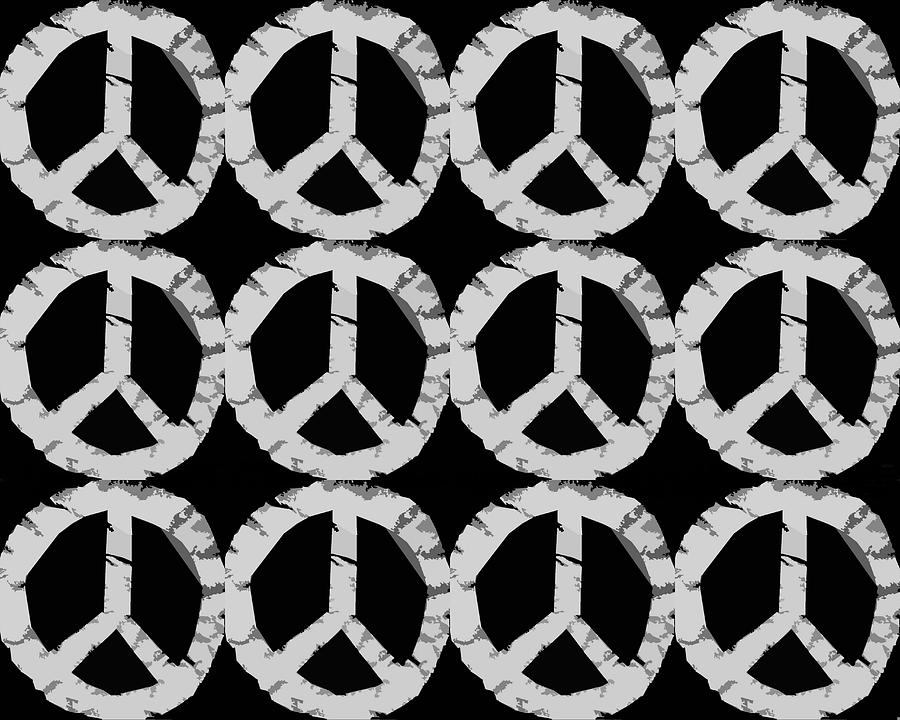 Peace Photograph - Peace In Black And White by Michelle Calkins