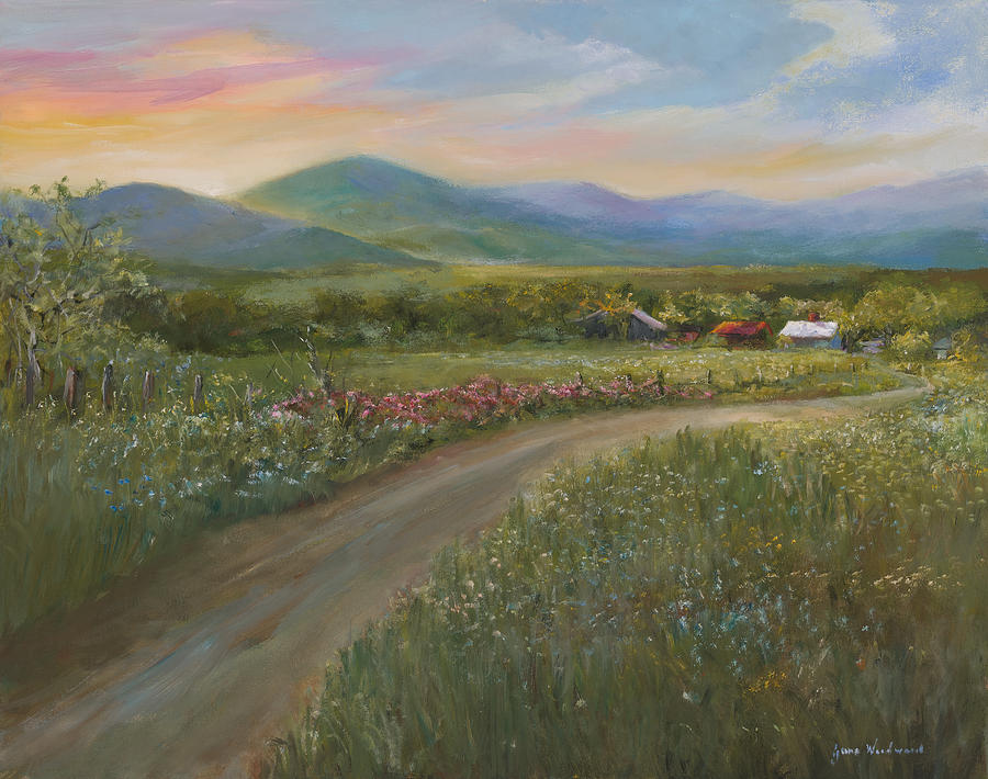 Mountain Valley Painting - Peace In The Valley by Jane Woodward