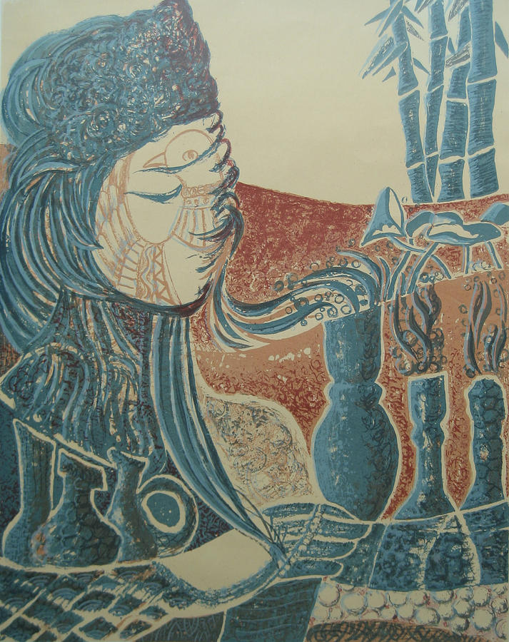 Prints Painting - Peace Inside Us by Ousama Lazkani