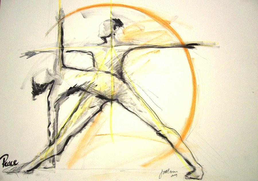 Yoga Drawing - Peace by Joyce McEwen Crawford