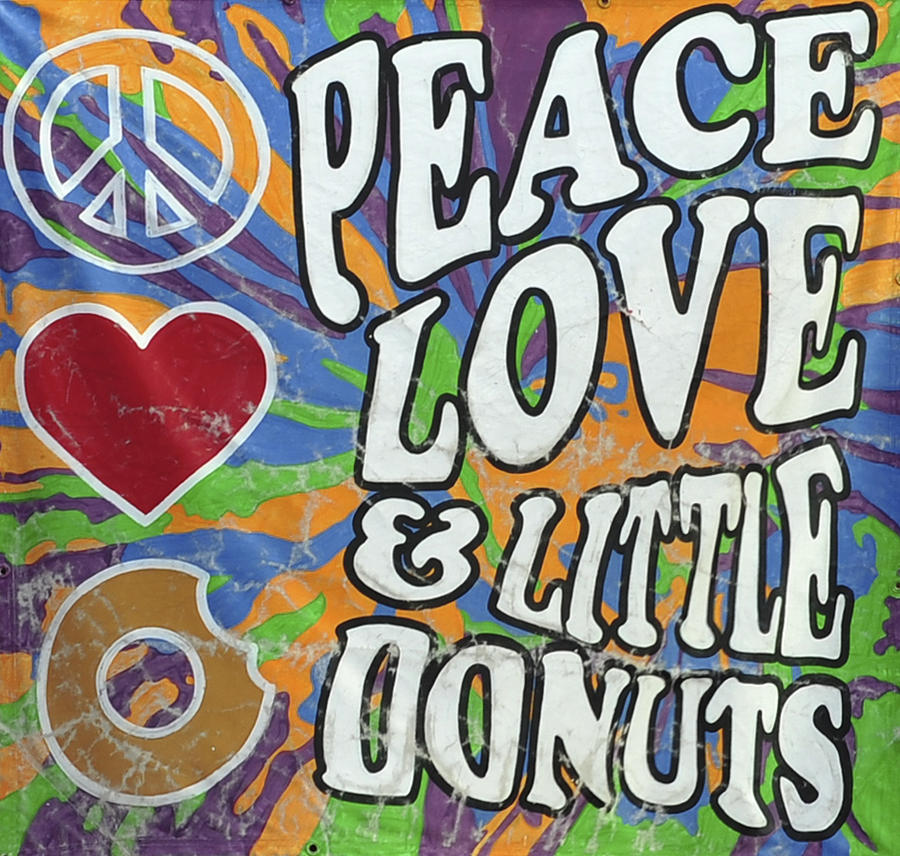 Peace Love And Little Donuts Photograph by Terry DeLuco