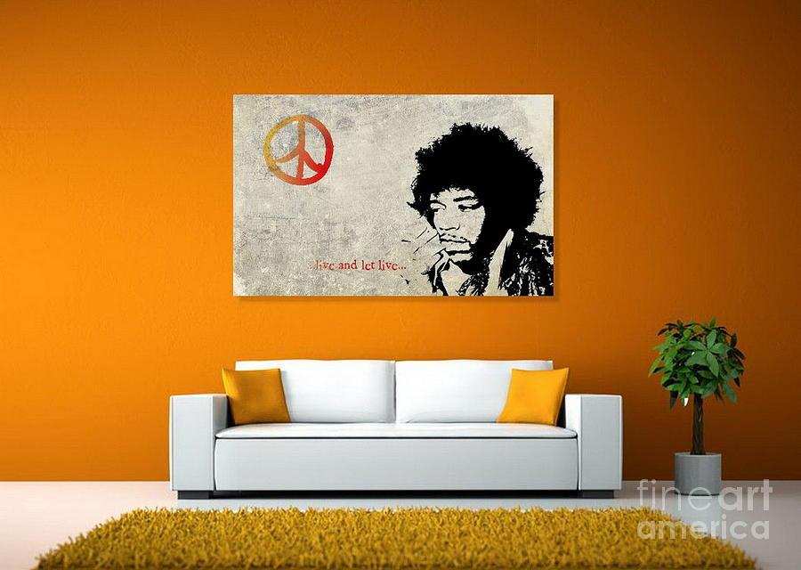 Jimi Hendrix Photograph - Peace Man by Andrea Kollo