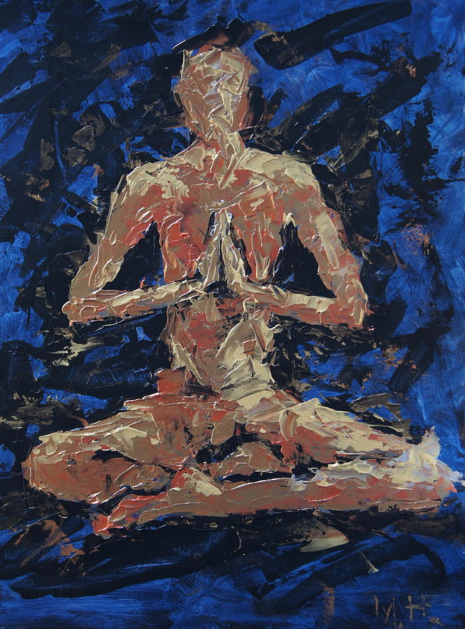 Ohm Painting - Peace by Mary Haas