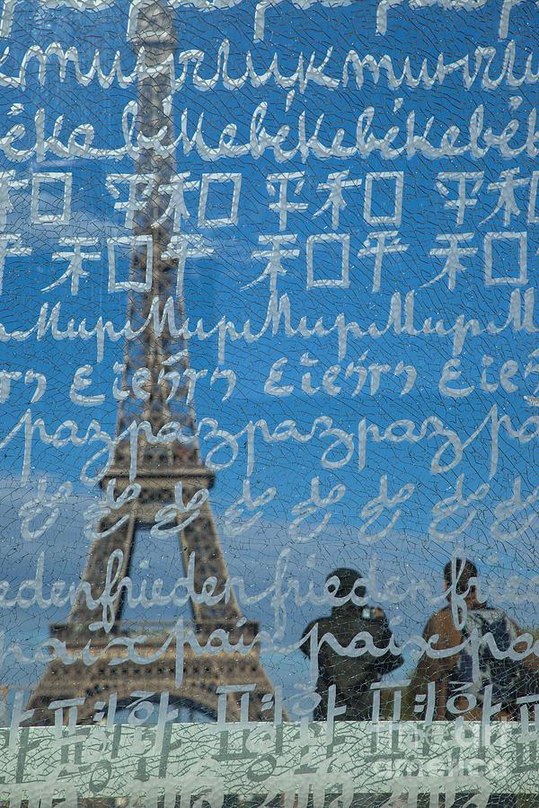 Eiffel Photograph - Peace Memorial Paris by Brian Jannsen