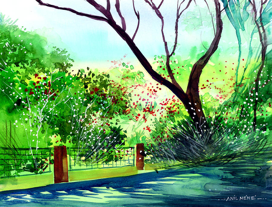 Flower Painting - Peace Of Mind 1 by Anil Nene