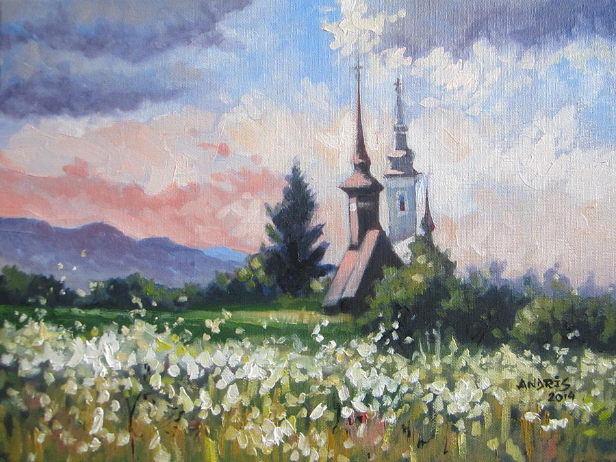 Wood Churches Paintings Painting - Peace Of Mind by Andrei Attila Mezei