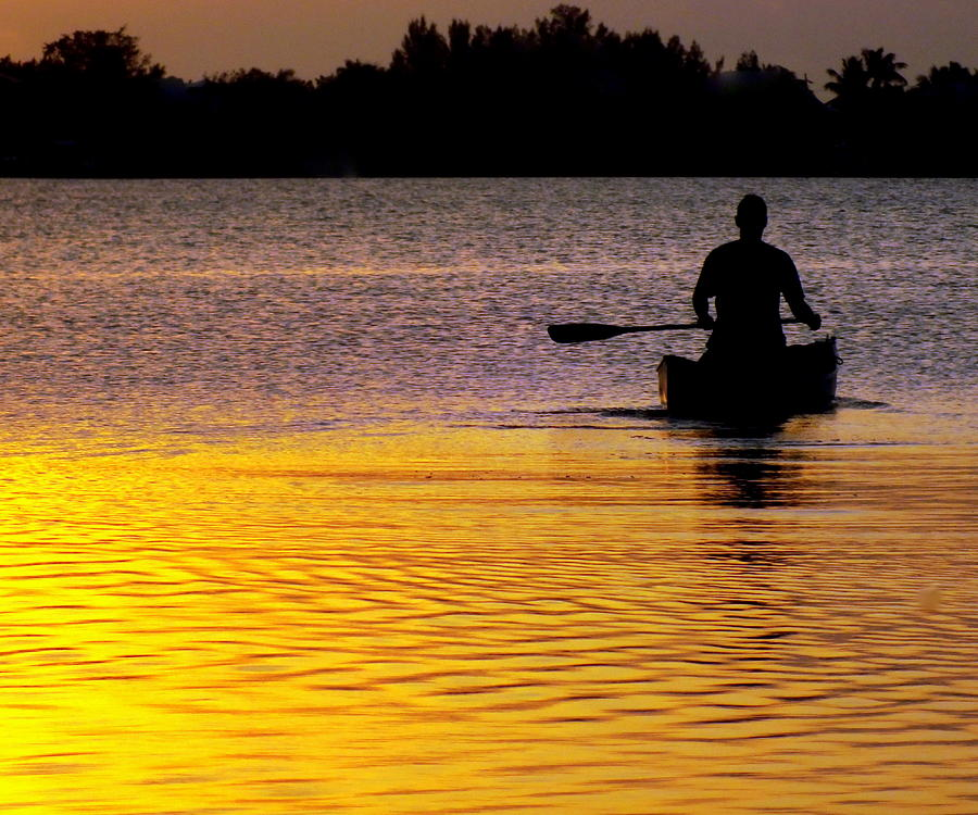 Canoes Photograph - Peace Of Mind by Karen Wiles