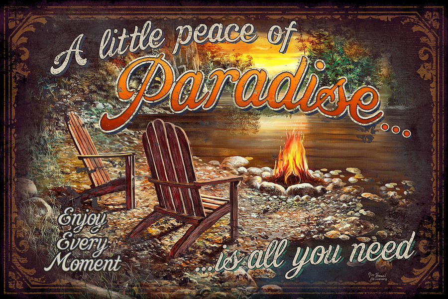 Paradise Painting - Peace Of Paradise by JQ Licensing