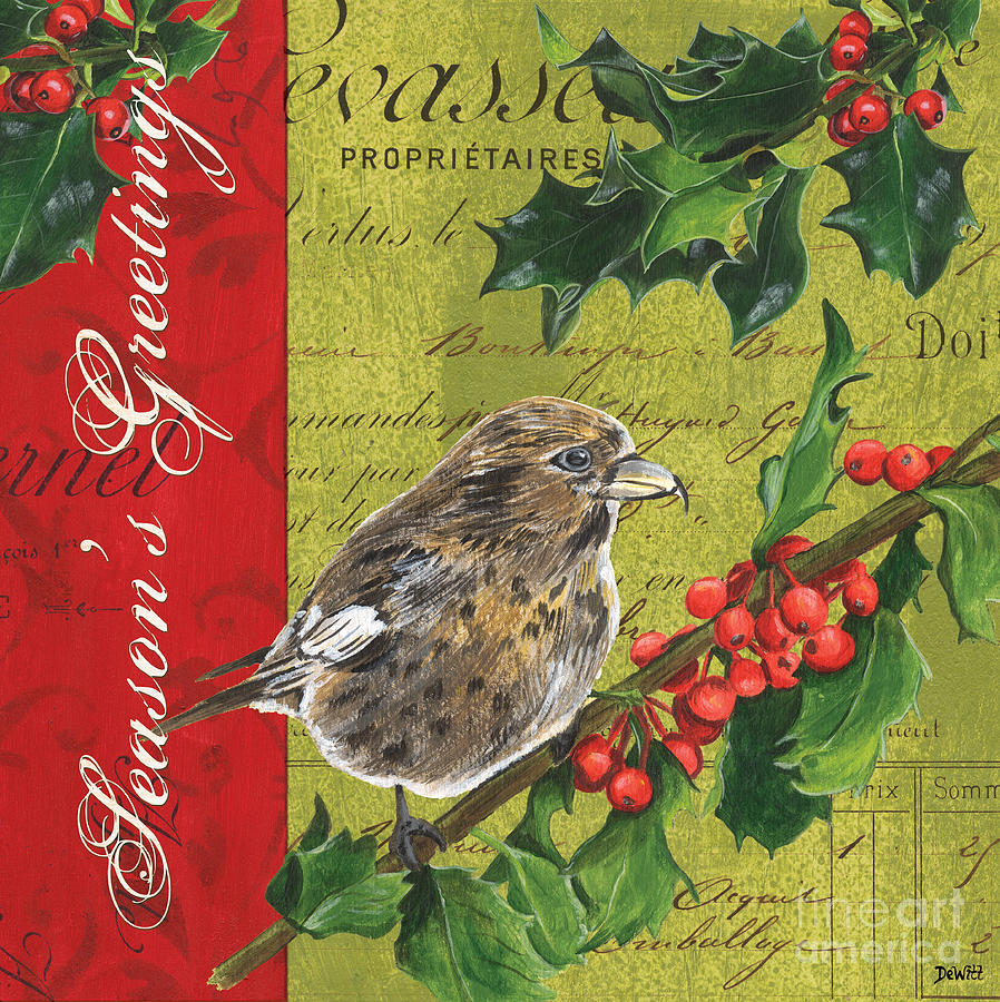 Christmas Painting - Peace On Earth 1 by Debbie DeWitt