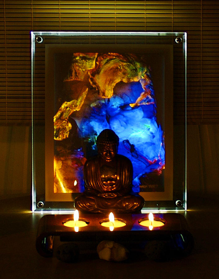 Buddha Photograph - Peace On Earth by Colleen Cannon