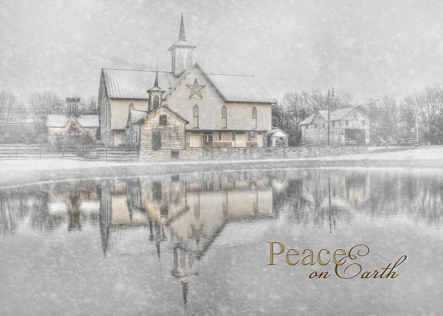 Barn Photograph - Peace On Earth by Lori Deiter