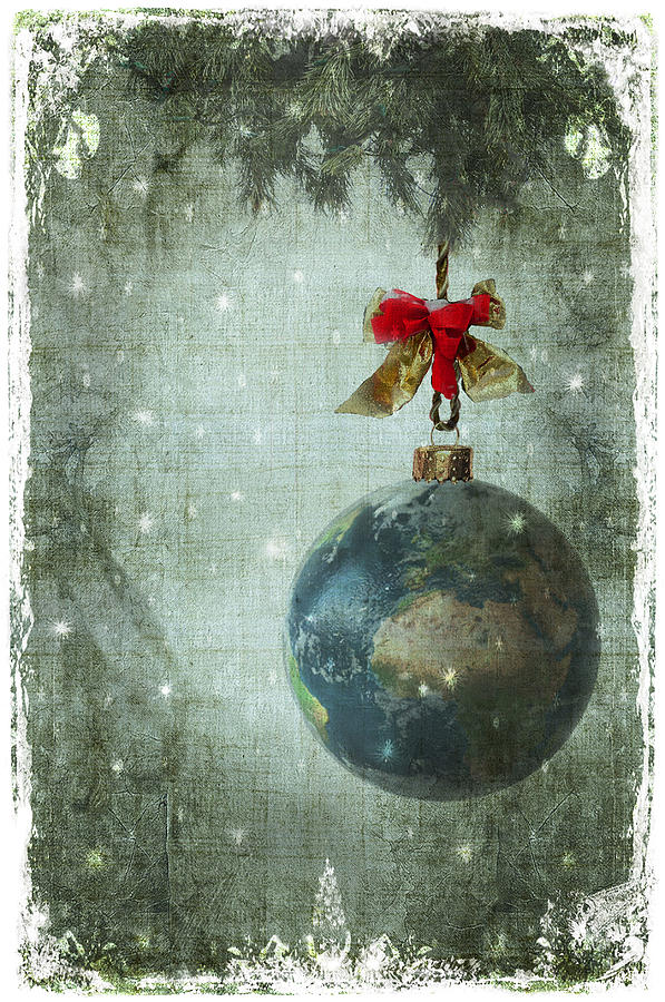 Merry Christmas Greeting Cards Digital Art - Peace On Earth by Marie  Gale