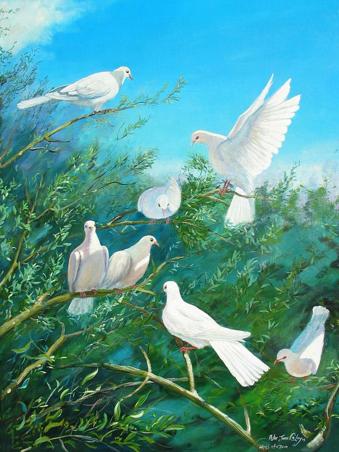 Birds Painting - Peace On Earth by Peter Jean Caley