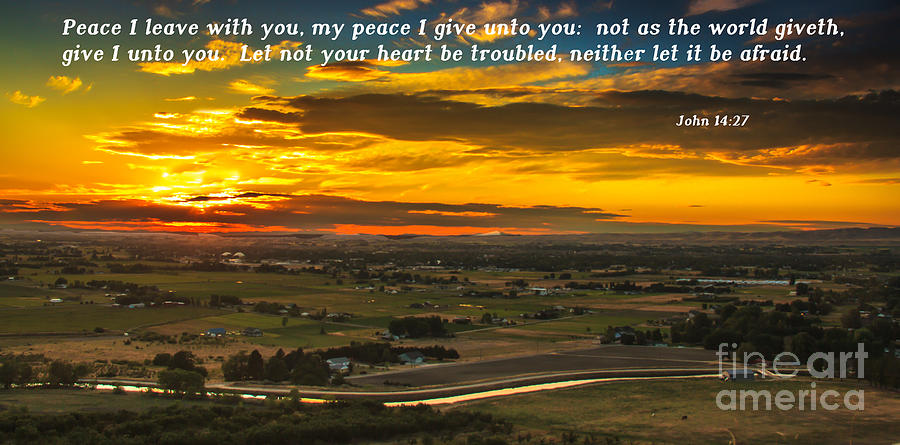 Bible Photograph - Peace by Robert Bales