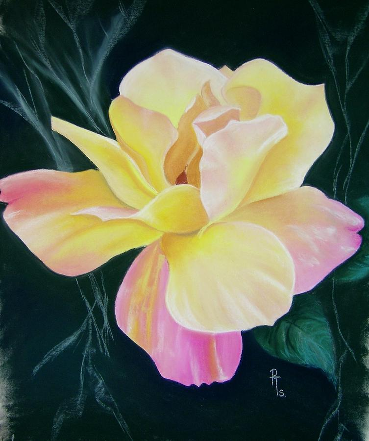Flower Pastel - Peace by Rosemarie Temple-Smith