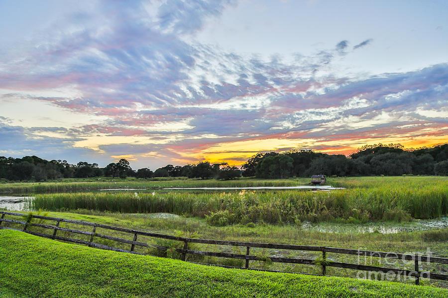Landscape Photograph - Peace Sunset by Mina Isaac