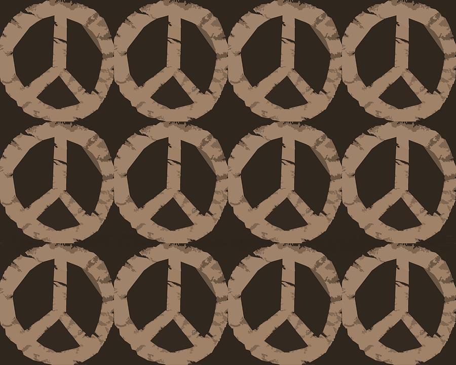Peace Photograph - Peace Symbol Collage by Michelle Calkins