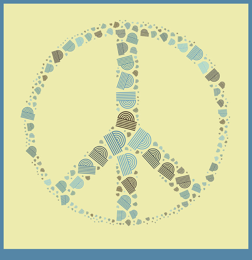 Peace Symbol Design - Y87d Digital Art by Variance Collections