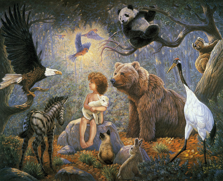 Gregory Perillo Painting - Peaceable Kingdom by Gregory Perillo