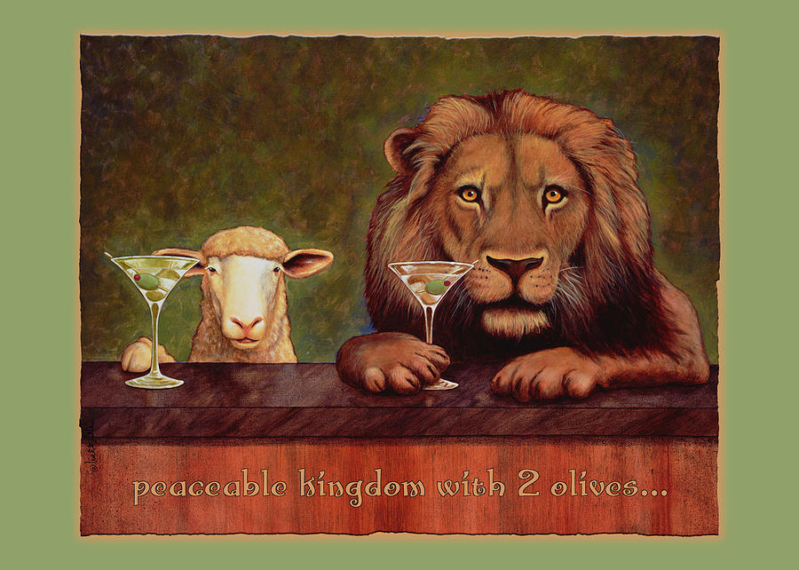 Will Bullas Painting - Peaceable Kingdom With 2 Olives... by Will Bullas
