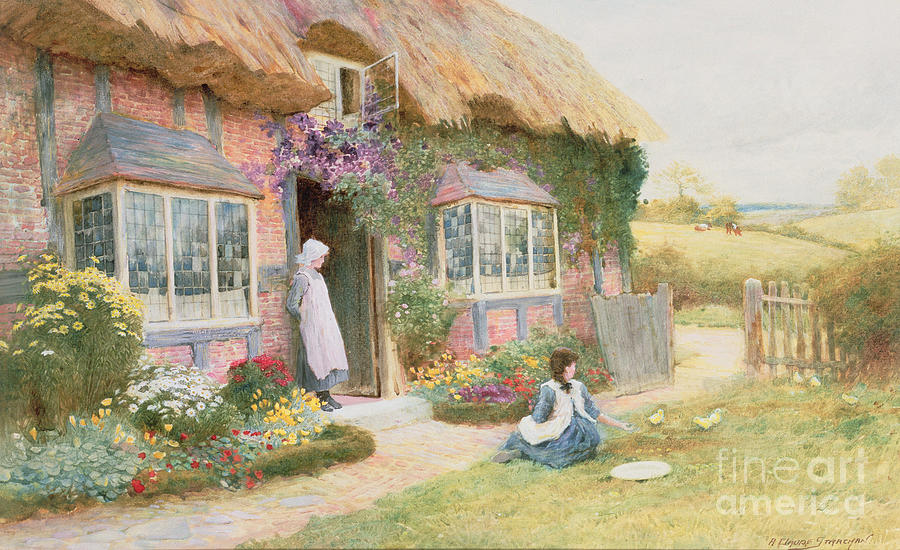 Thatch Painting - Peaceful Afternoon by Arthur Claude Strachan
