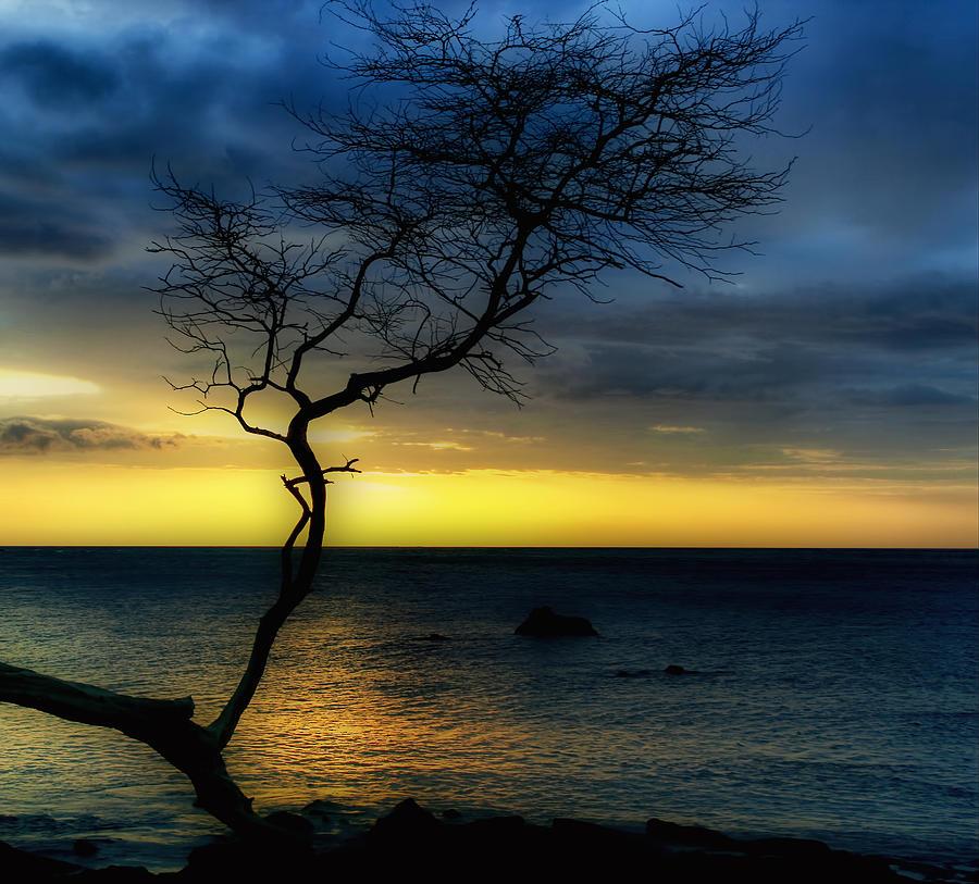 Sunset Photograph - Peaceful Hawaii by Kim Hojnacki