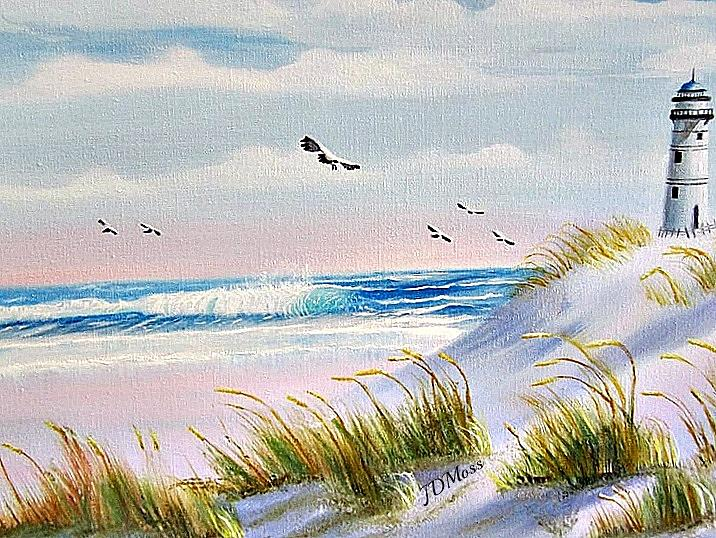 Ocean Painting - Peaceful by Janet Moss